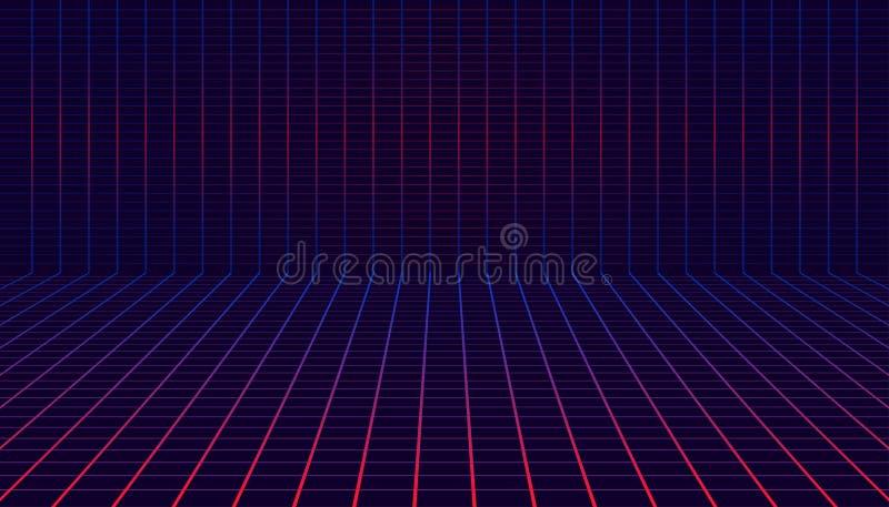 Plaid horizontal et vertical de conner de résumé pour la valeur marchande graphique et autre d'étalage Illustration EPS10 de vect illustration de vecteur