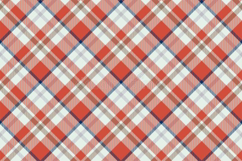 Plaid-Mustervektor Schottenstoffschottlands nahtloser Retro- Hintergrundgewebe Geometrische Beschaffenheit des Weinlesekontrollfa stock abbildung
