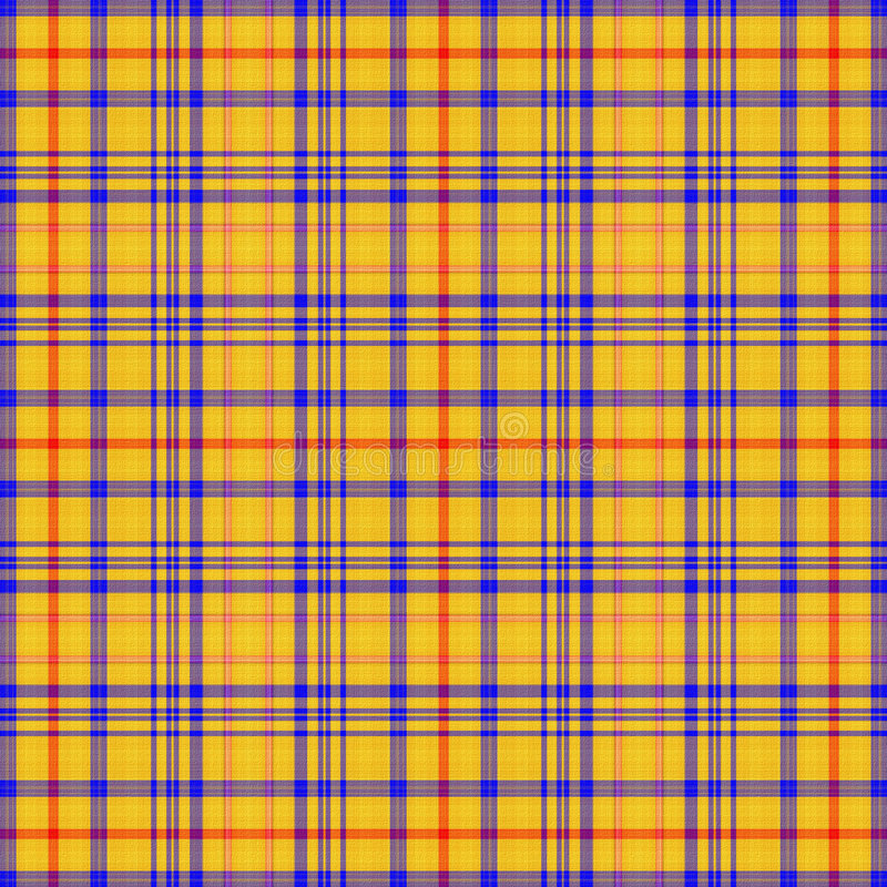 Plaid paper yellow royalty free stock images