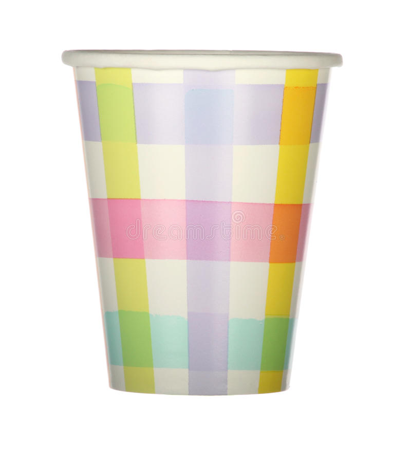 Plaid Party Cup Royalty Free Stock Photos