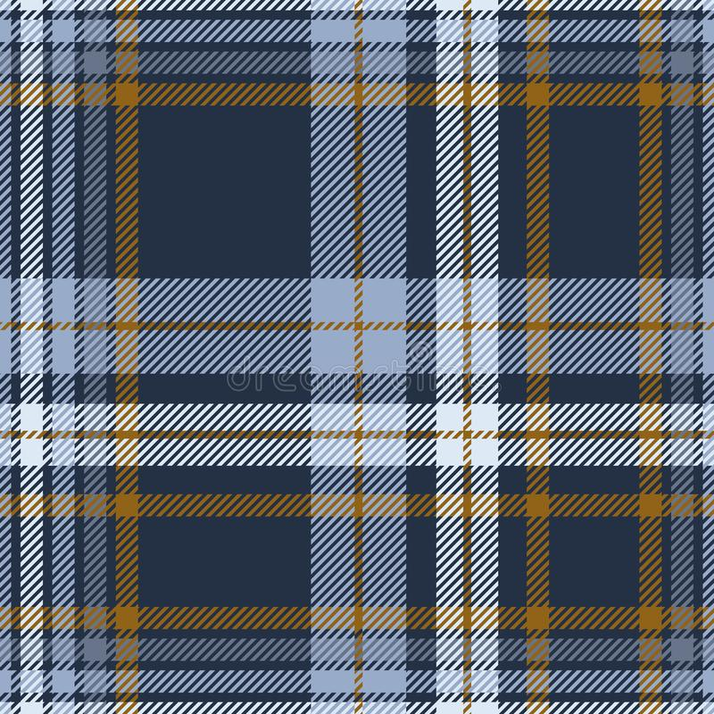 Plaid pattern in dusty blue, faded navy and brown. royalty free stock image