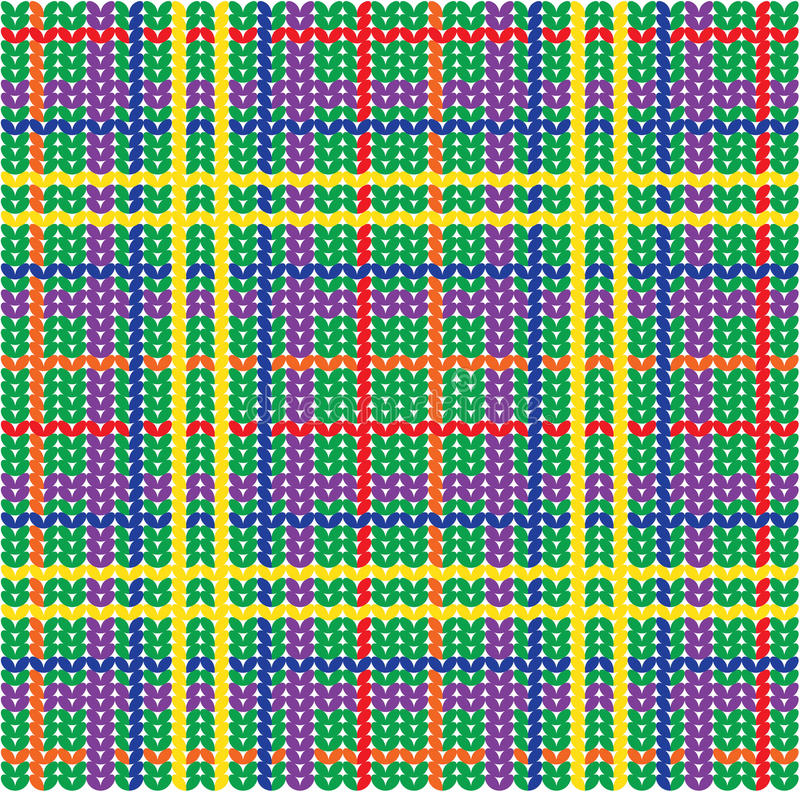 Plaid pattern from knitted texture vector illustration