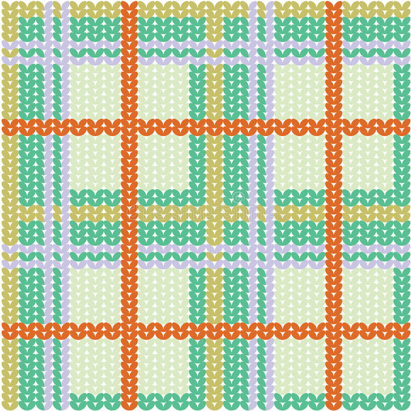 Plaid pattern from knitted texture royalty free illustration
