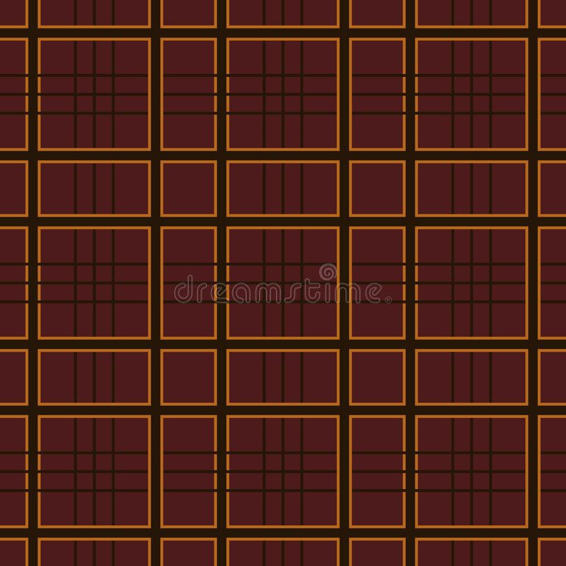 Plaid pattern. Red checkered seamless pattern repeat design stock illustration