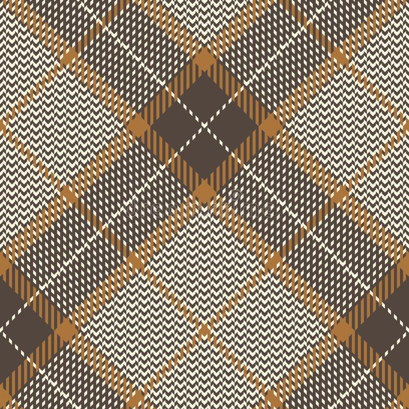 Free Plaid Pattern Seamless Diagonal Vector Background. Glen Check Plaid In Brown For Coat, Dress, Skirt, Trousers, Jacket, Blanket. Royalty Free Stock Photos - 189878468