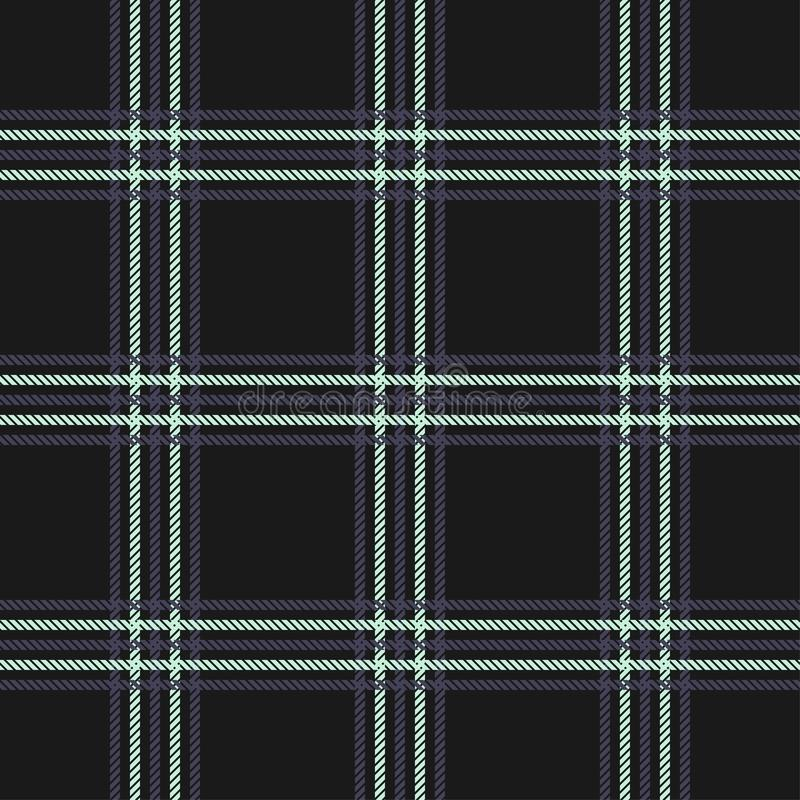 Plaid pattern seamless vector background. Tartan check plaid for modern everyday fabric design.  royalty free illustration
