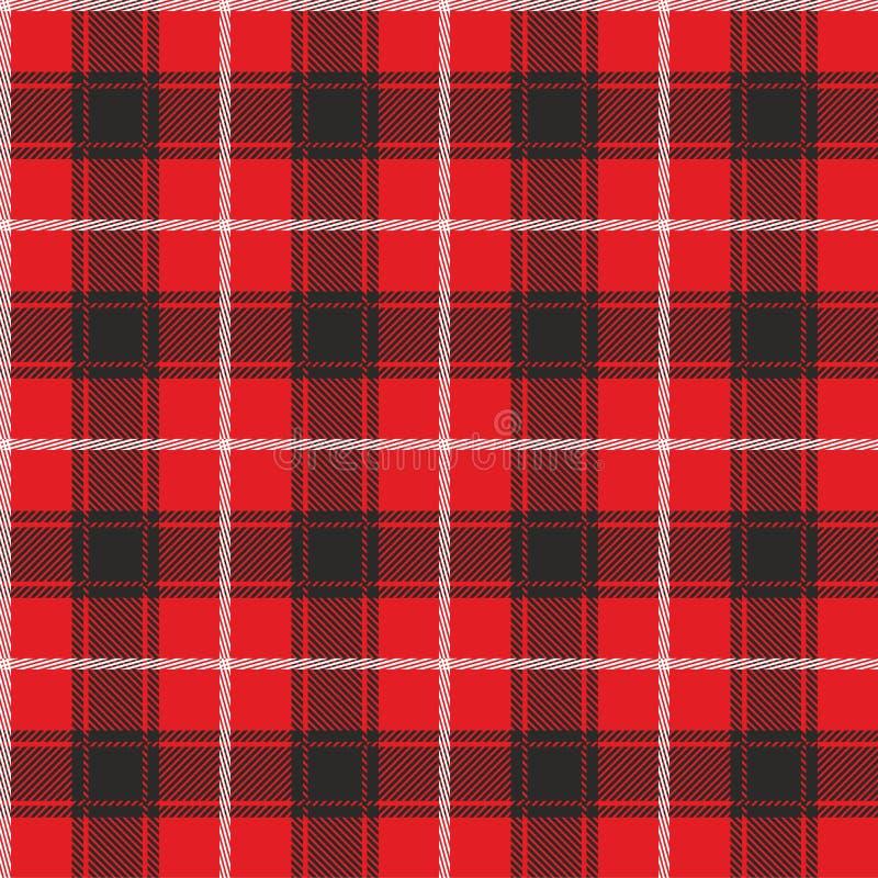 Plaid pattern. Template for clothing fabrics. Red Lumberjack. Seamless tartan flannel shirt print. Christmas decorative background.  vector illustration