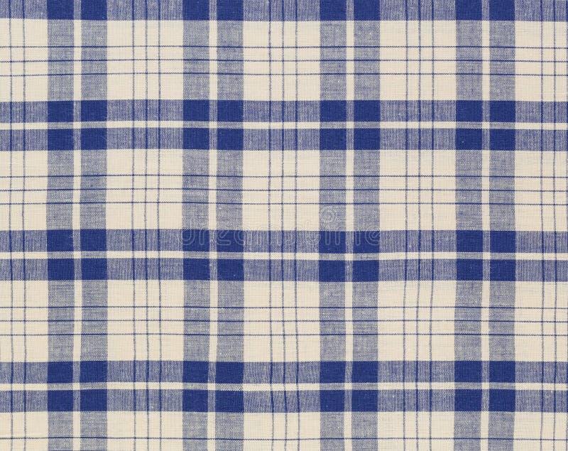 Plaid pattern textile. Blue and white plaid textile fabric background stock photos