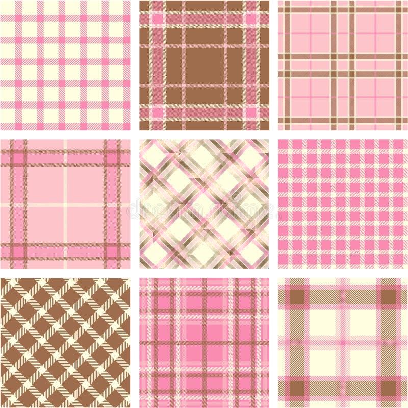Plaid patterns stock illustration