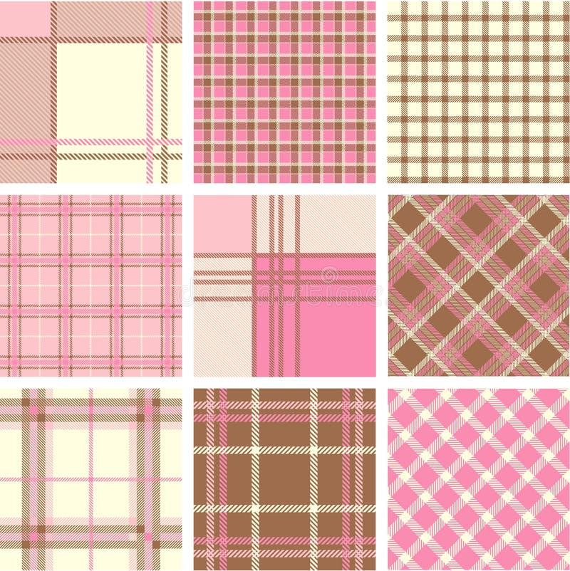 Plaid patterns vector illustration