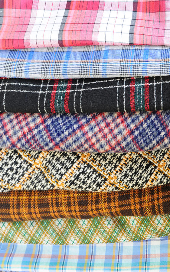 Download Plaid pieces of cloth stock photo. Image of clothing - 21637012