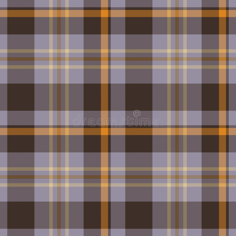 Plaid retro bruin naadloos patroon - voor hipsteroverhemd stock illustratie