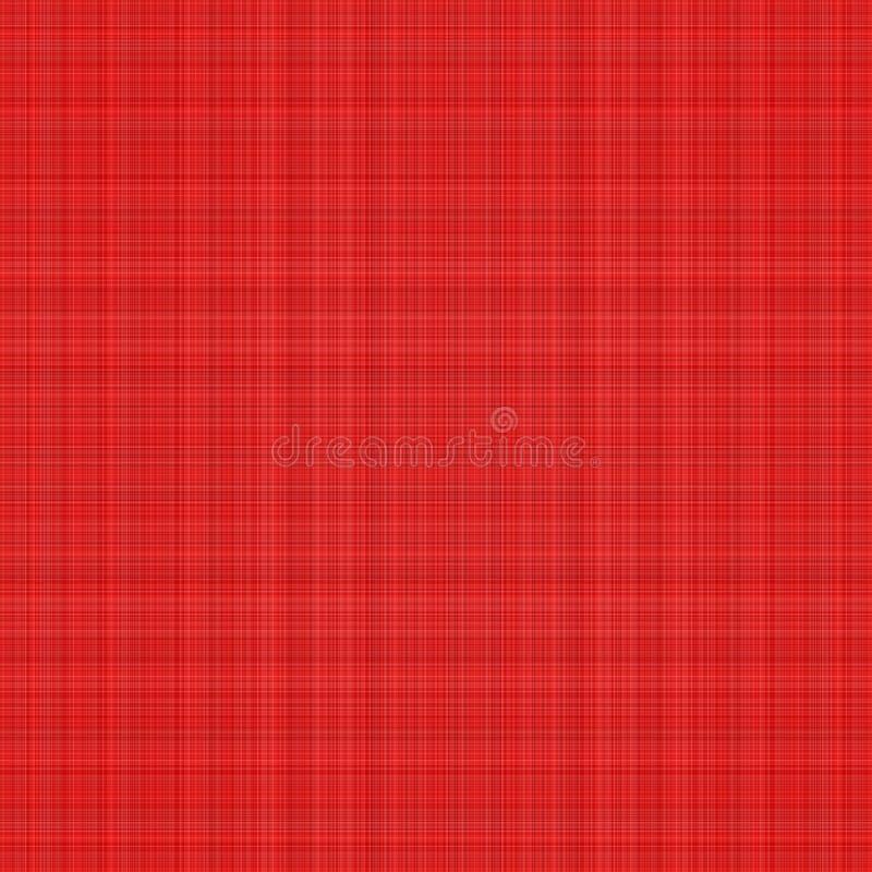Plaid rosso illustrazione vettoriale