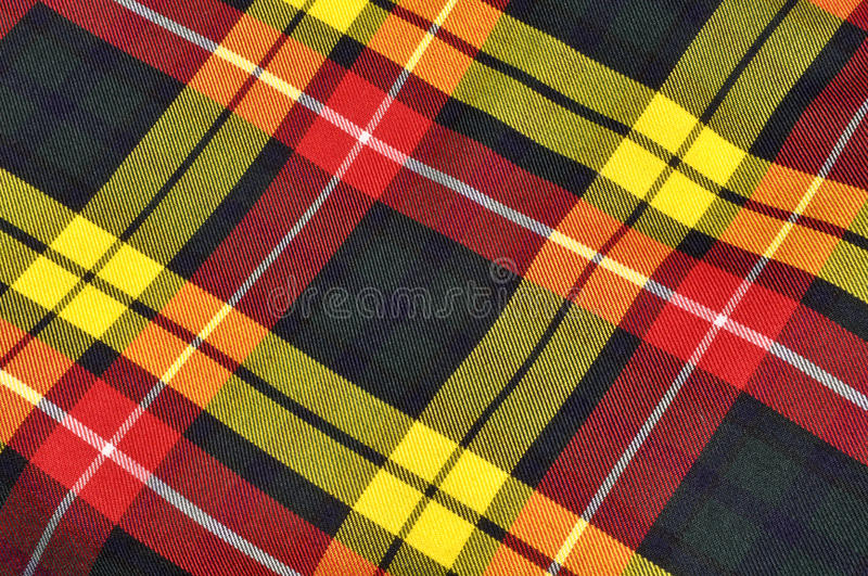 Plaid Scottish Kilt Background royalty free stock photography