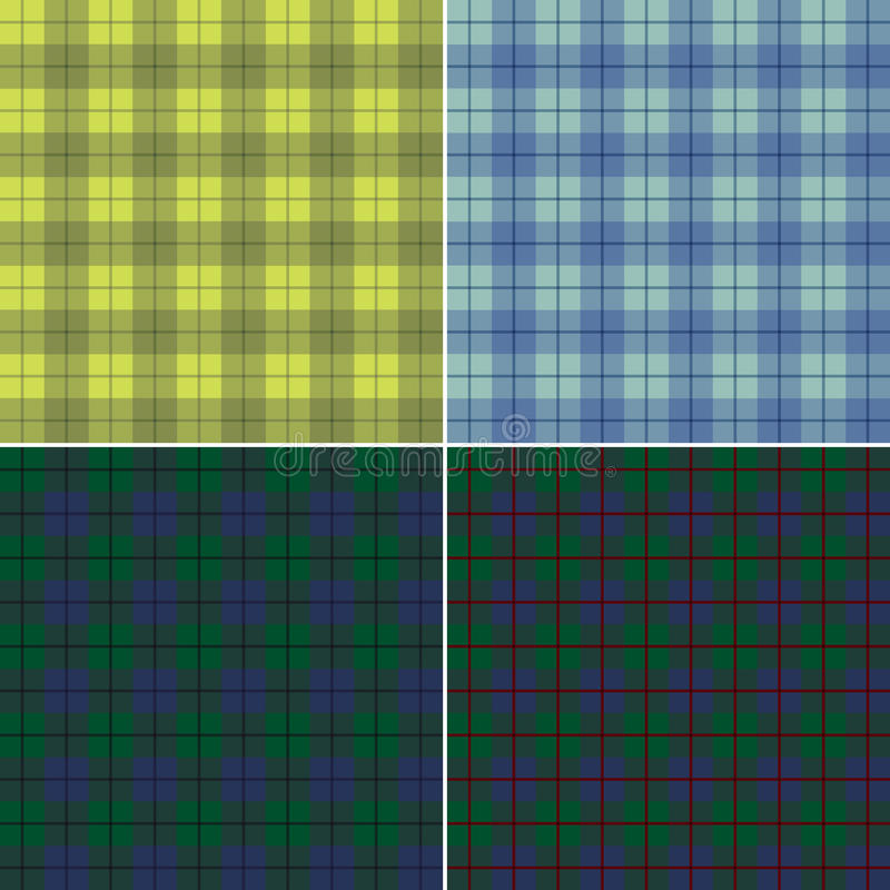 Plaid scozzese astratto illustrazione di stock