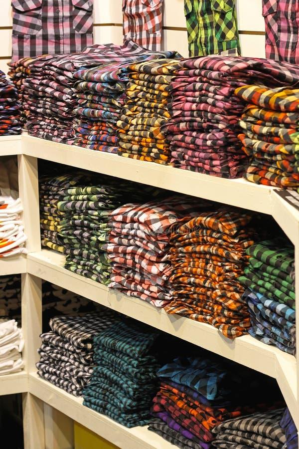 Download Plaid shirts shop stock image. Image of rack, fashion - 29644089