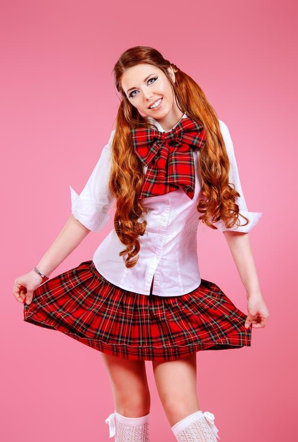 Plaid skirt stock images
