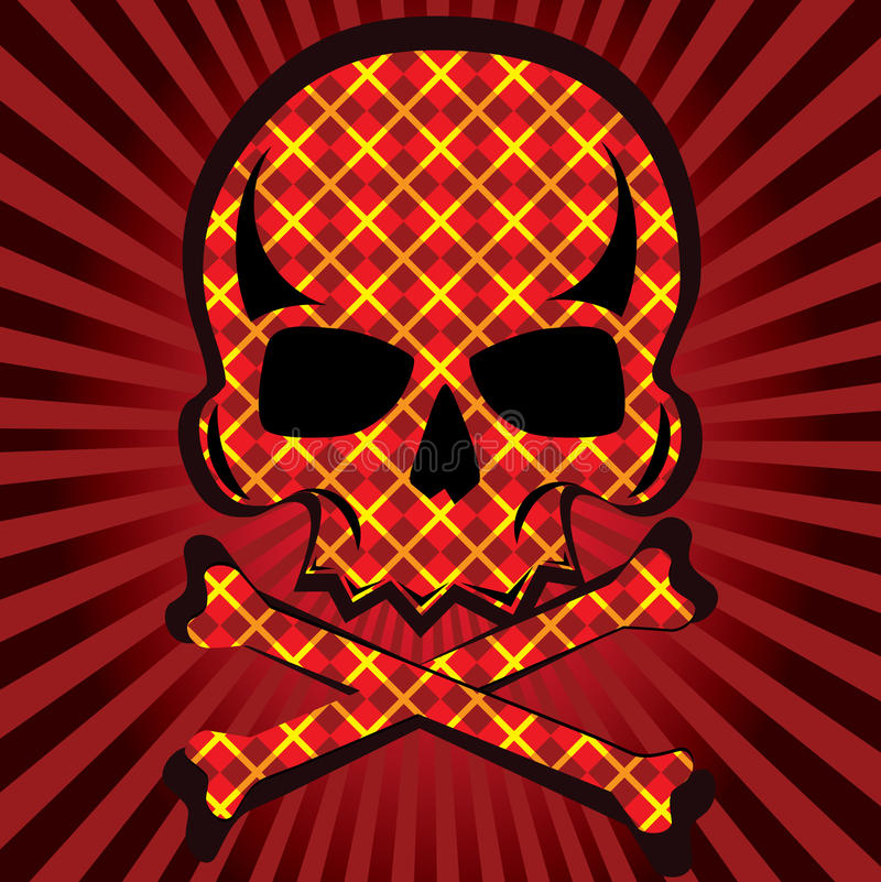 Download Plaid skull stock vector. Illustration of death, pirate - 17531955