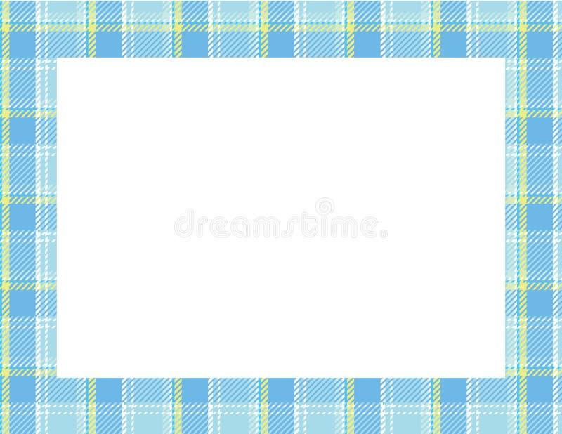 Plaid Tartan Frame stock illustration