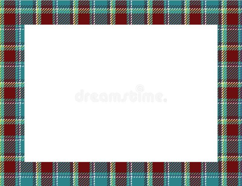 Plaid Tartan Frame royalty free illustration
