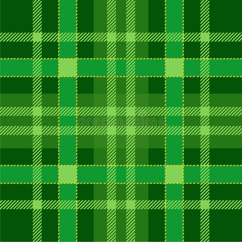 Plaid Tartan Seamless Pattern Background. Green traditional Scottish Ornament. Seamless Tartan Tiles. Trendy Vector Illustration for Wallpapers royalty free illustration