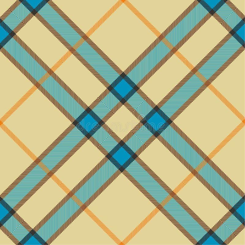 Plaid texture, seamless pattern stock illustration