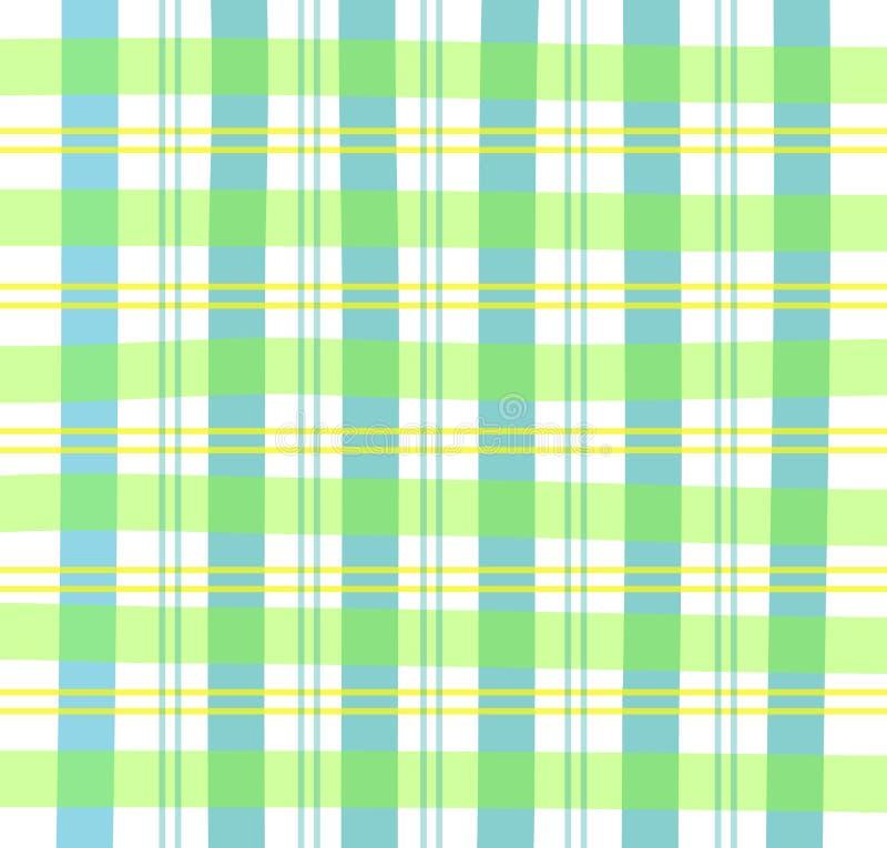 Plaid verde del percalle royalty illustrazione gratis