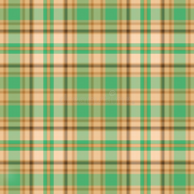 Plaid verde dell'oro illustrazione vettoriale