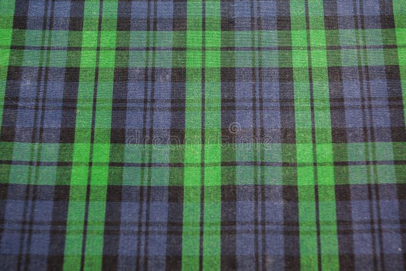 Plaid verde intenso senza cuciture immagini stock