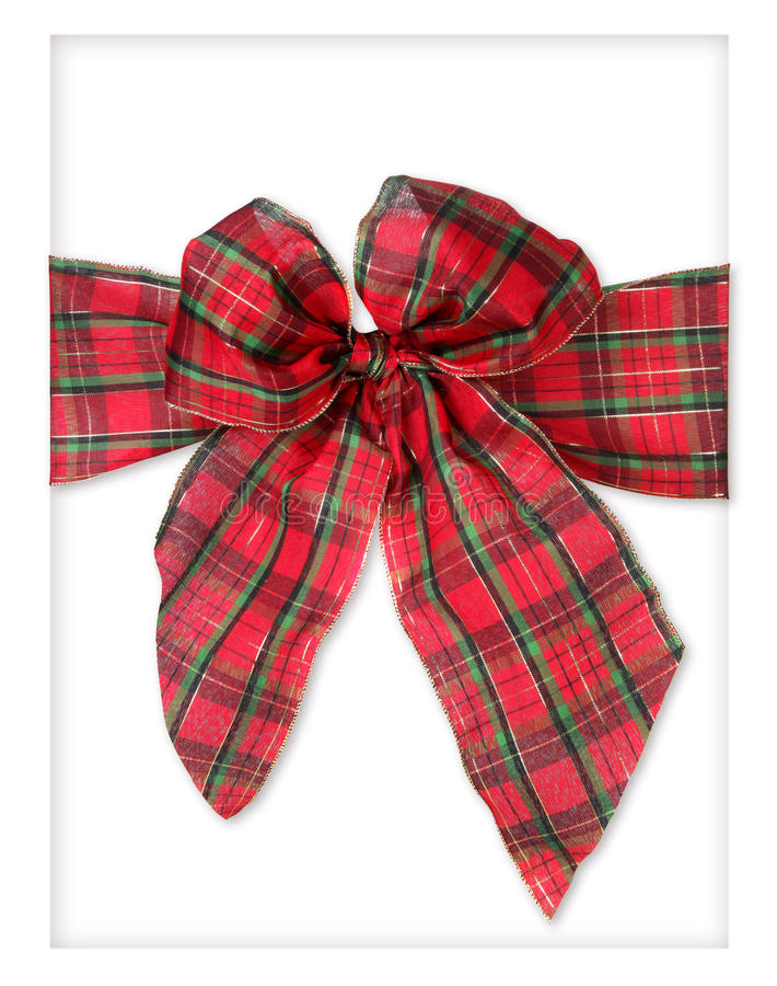 Download Plaid Xmas Package Bow Stock Photo - Image: 12057780