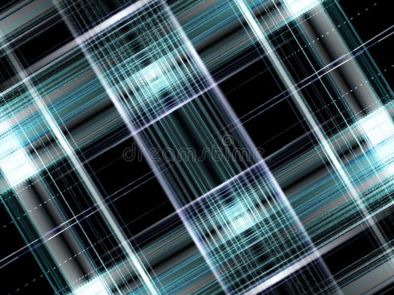 Plaidhintergrund des blauen Schwarzen lizenzfreie abbildung