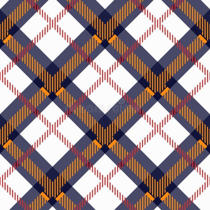 Plaidkontrollmuster in der Orange, blau, rot, Schwarzweiss Nahtlose Gewebebeschaffenheit für digitales Textildrucken vektor abbildung