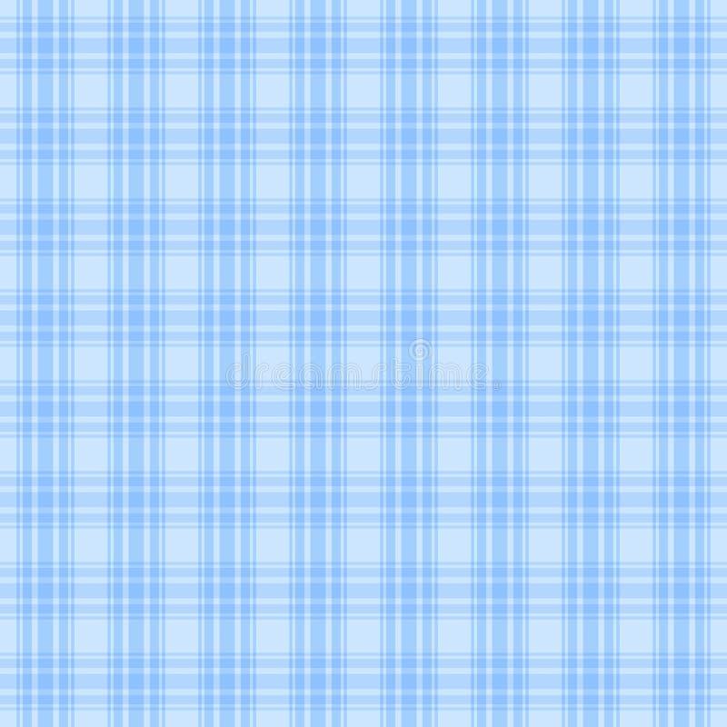 Plaidmaterial Nahtloses Muster des einfachen Vektors sich wiederholender Hintergrund des blauen Babys Textilfarbe Gewebemuster Th lizenzfreie abbildung