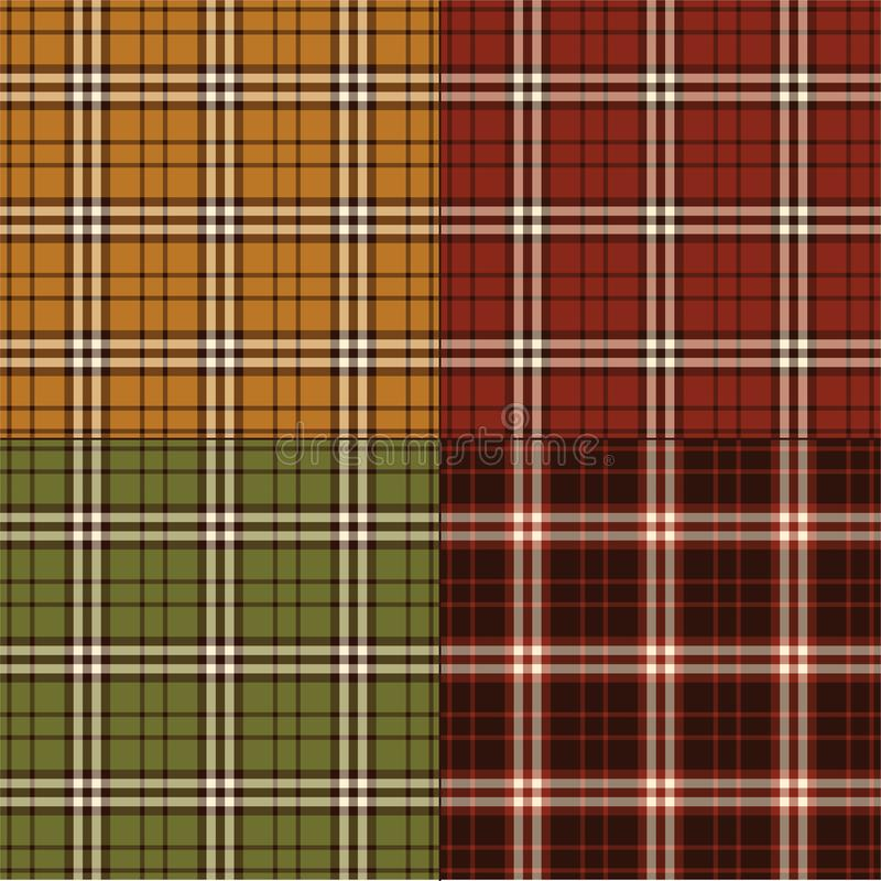 Plaids automnaux illustration stock