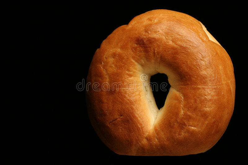 Plain bagel royalty free stock photo