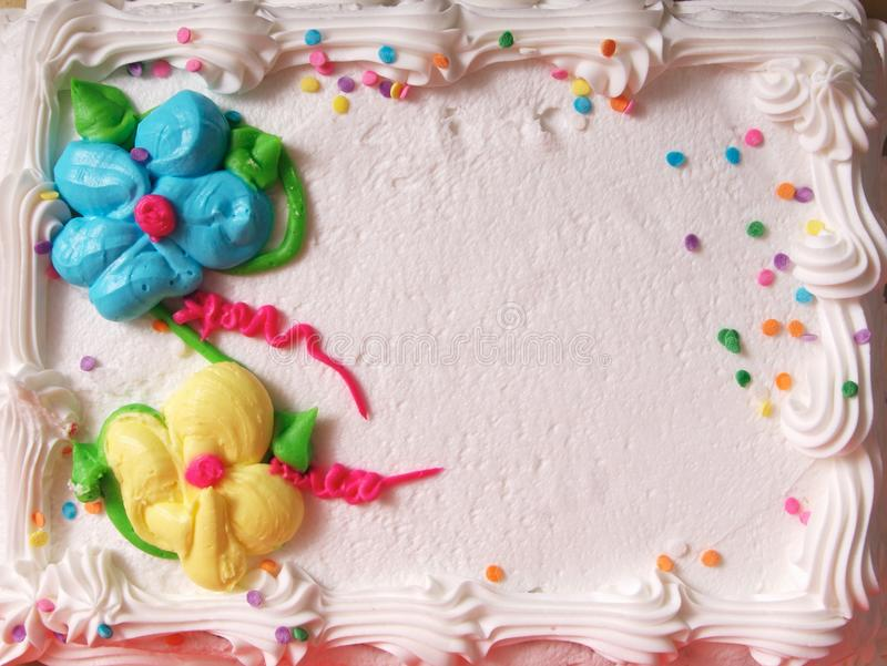 A Plain Birthday Cake. Background with nobody royalty free stock photo