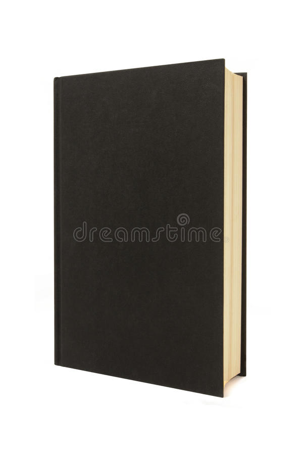 Plain Black Book Cover ~ Vertical blank black hardback book or bible standing
