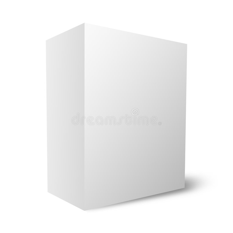 Plain blank box (12Mb) royalty free illustration