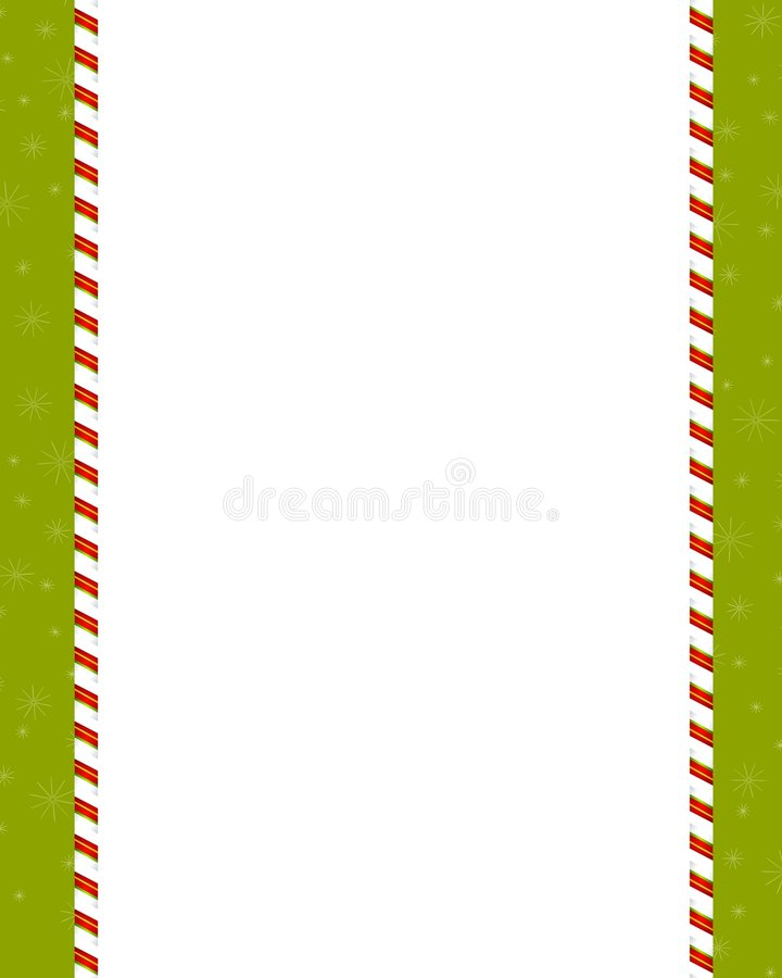 Plain Candy Cane Border Royalty Free Stock Images