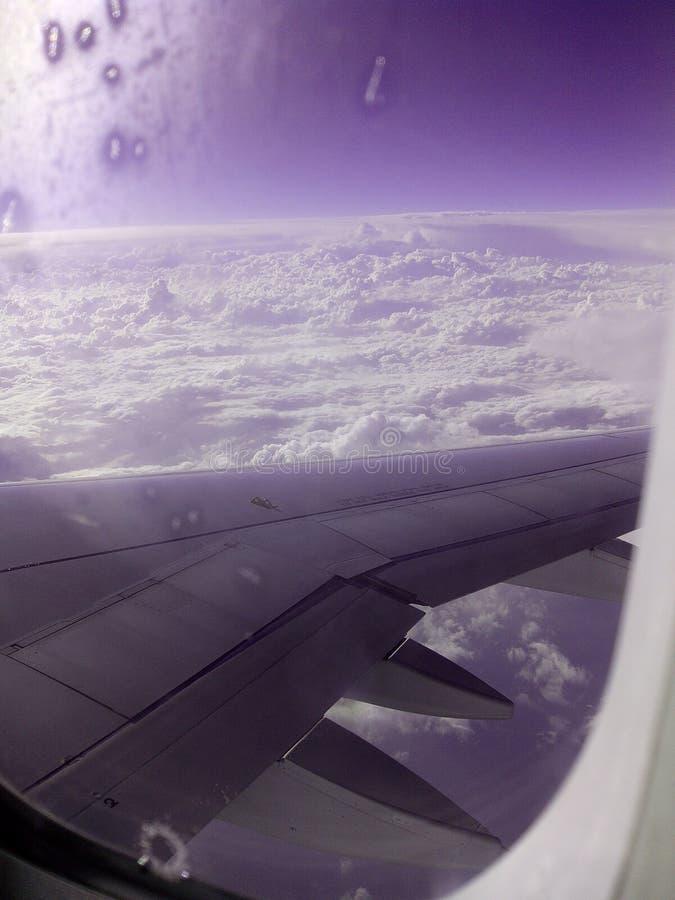 Plain clouds stock image