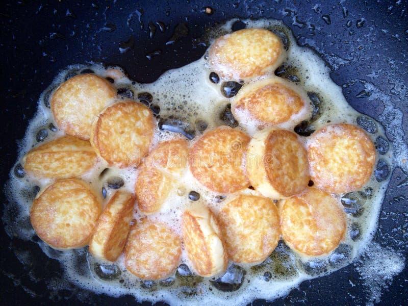 Plain fried eggs bean curd royalty free stock image