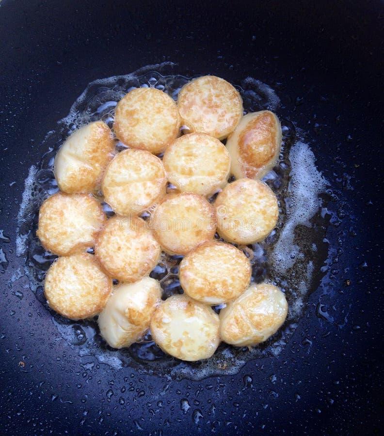 Plain fried eggs bean curd royalty free stock photos