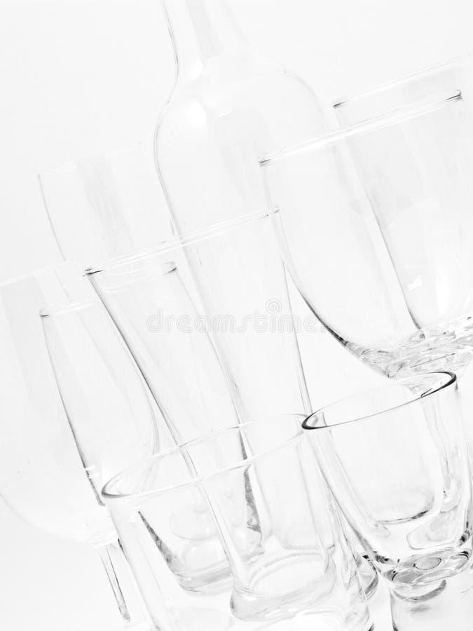 Plain Glass stock photo