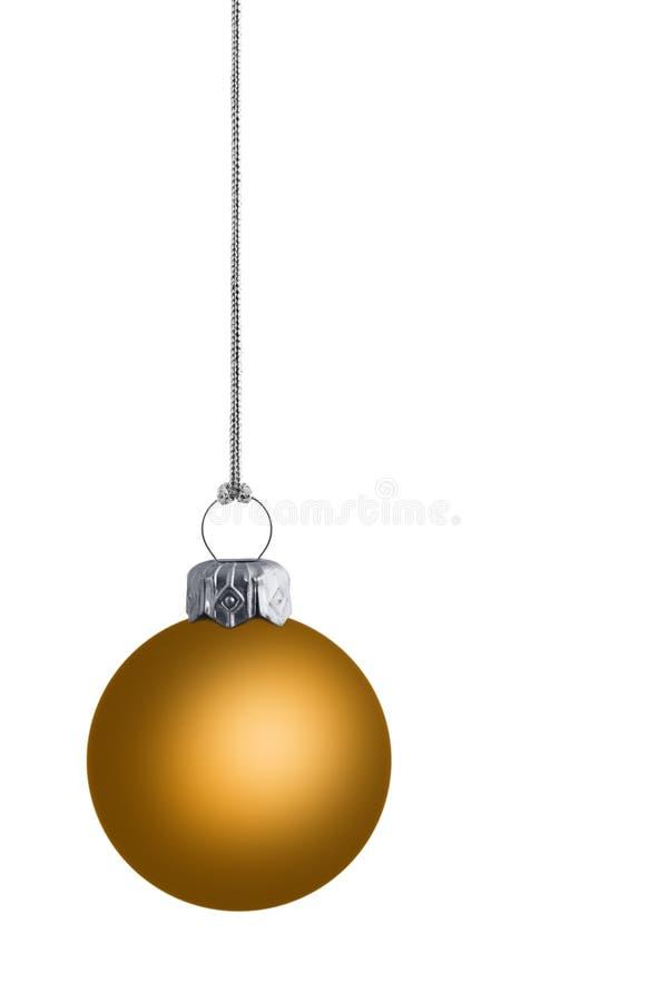 Plain Golden Cristmas Bauble stock images