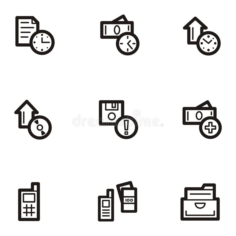 Plain Icon Series - Business royalty free illustration