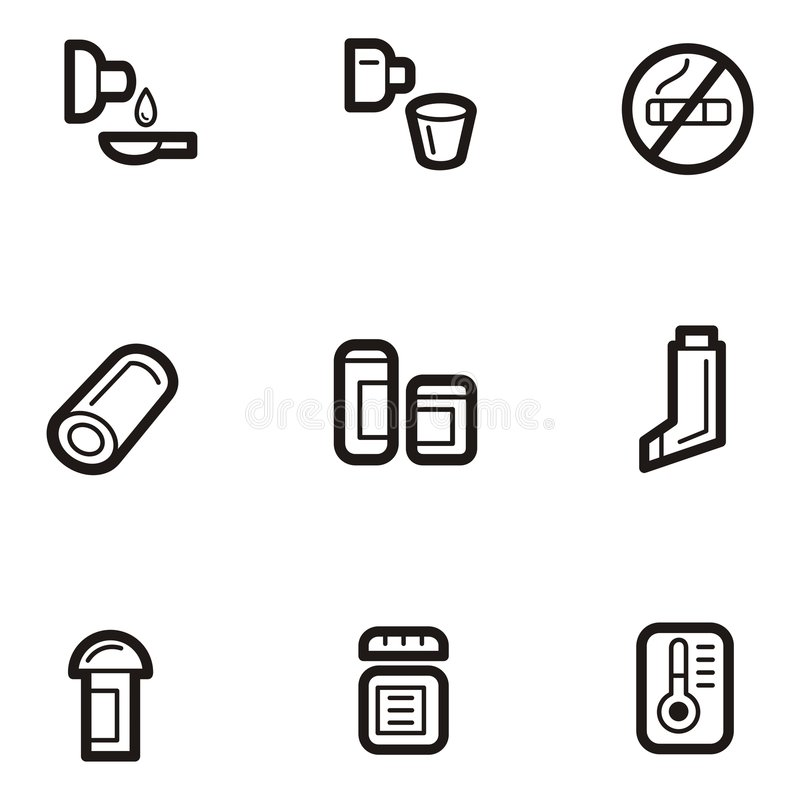 Plain Icon Series - Medicine stock illustration