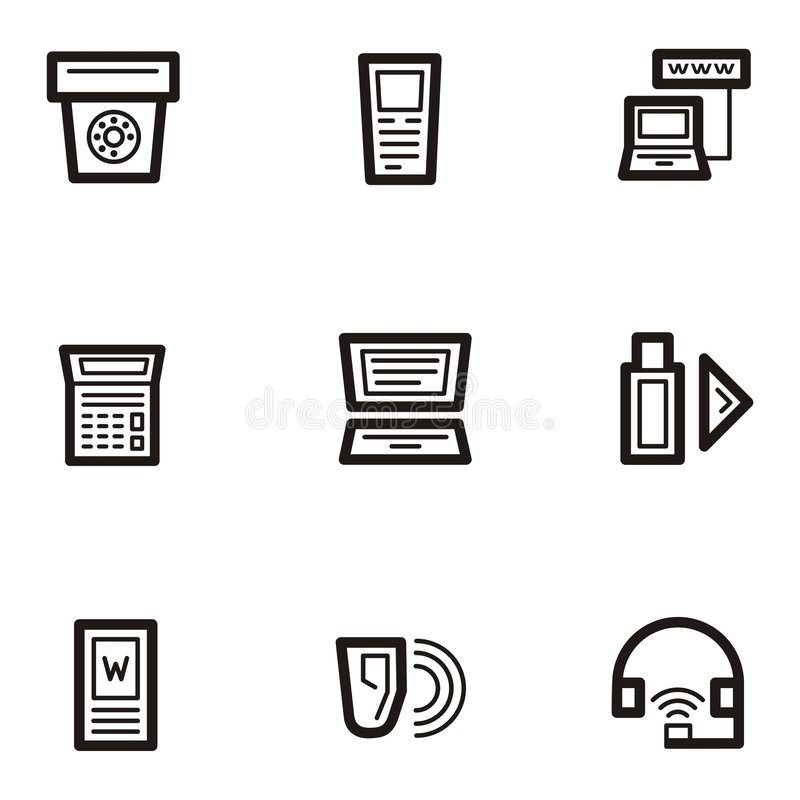 Free Plain Icons - Communications Royalty Free Stock Photos - 1961068