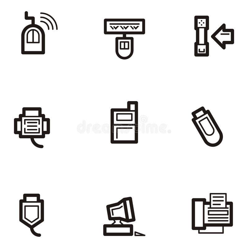 Plain Icons - Communications royalty free illustration