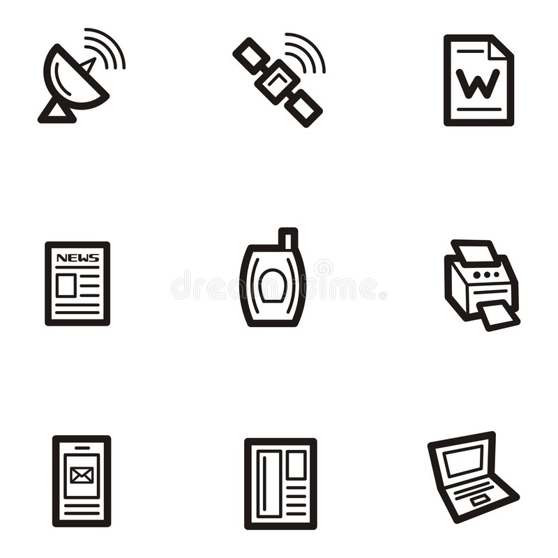 Plain Icons - Communications stock illustration