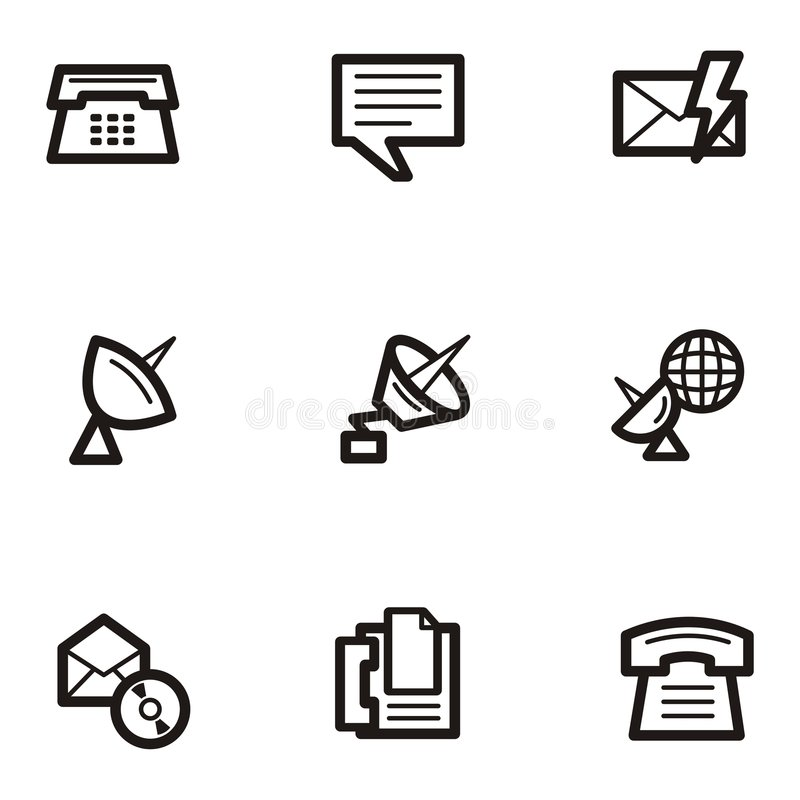 Download Plain Icons - Communications Stock Vector - Illustration of icon, technology: 1961122
